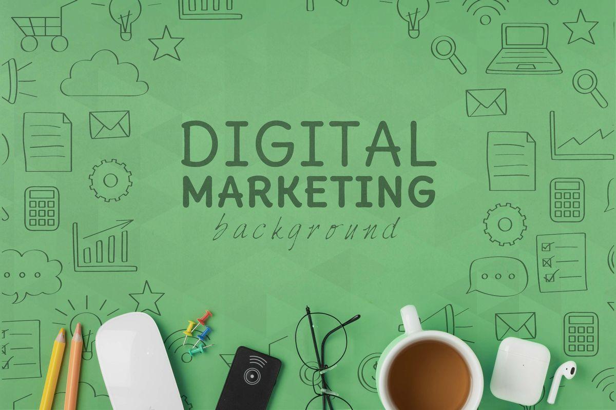 digital marketing backgroundイラスト