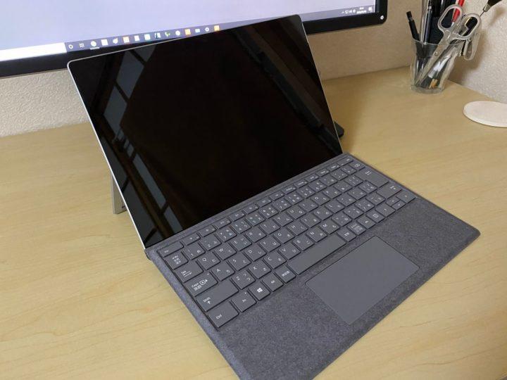 Surface Pro7とタッチカバーの写真
